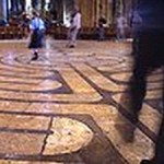 Walking at the Chartres Labyrinth