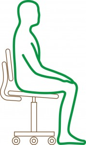 Green Sitting Practice figure No desk (2)